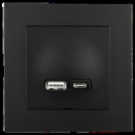 ELKO Plus USB A+C lader 2,4A SO