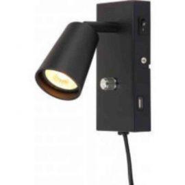 Leselys LED Unilamp Kony med USB sort