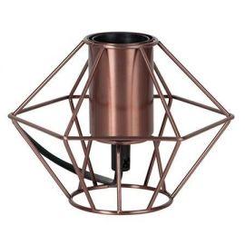 Edge lampeholder i metall 15 cm E27 kopper