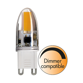 LED Klar G9 2800K 1,6W 160lm Dim