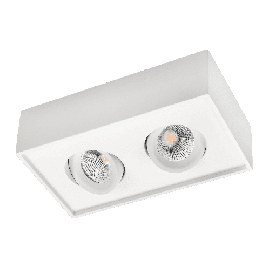 SG Cube Lux Hvit 2x7W LED 2700K Ra 98, 10 års garanti