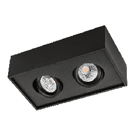 SG Cube Lux Sort 2x7W LED 2700K Ra 98, 10 års garanti