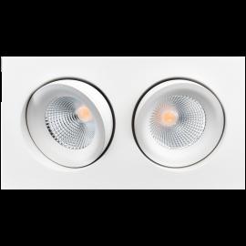 SG Junistar Square Lux Hvit 2x7W LED 4000K Ra 98