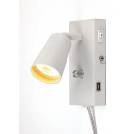 REED 6w LED Sengelampe med USB lading Dimwarm