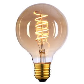 Spiral filament E27 4W 125 mm dimbar - Amber