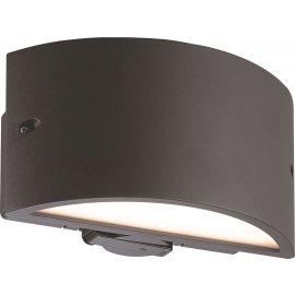 18W Vegglampe med stikkkontakt NOTTINGHAM II, Grå, IP54