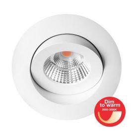 Qi Allround DimToWarm 10W LED lavtbyggende matt hvit