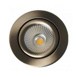 LED Venus Cob 9W IP44 lavtbyggende Børstet Stål