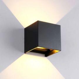 KUBE 6W stillbar lysstråle, IP44, sort