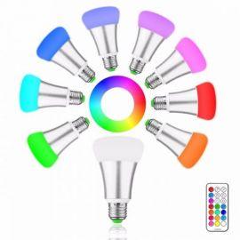 10W E27 RGB og Varmhvit lys