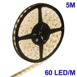 Epoxy Vanntett Varm Hvit LED 5050 SMD Rope Light, 60 LED/M, Length: 5M