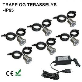 LED Trappe/ Terraselys IP67 6 Stk