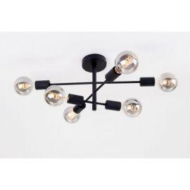 Cross taklampe 6 lys - Sort