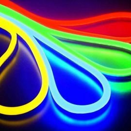 NEON LED RGB farge 5M IP67