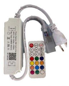 RGB 230V blåtann kontroll enhet og med fjernkontroll