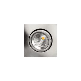 SG Junistar Gyro Square Børstet stål 6W LED 2700K Ra>95 10 års garanti