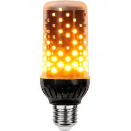 Decoration Flamme-pære E27, 1,8-2,6W LED, 1800K, 300lm, Sort
