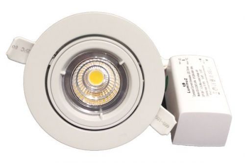 Downlight Lavtbyggende COB 8W LED m/driver 44mm Matt Hvit