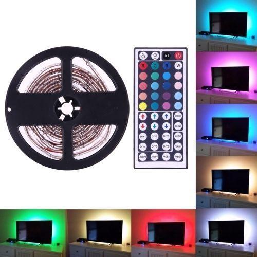 RGB LED strips 4X50cm med USB kontakt for bruk bak TV