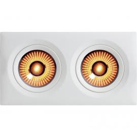 Unilampe Gyro Frame WarmDim 2x9W Firkant