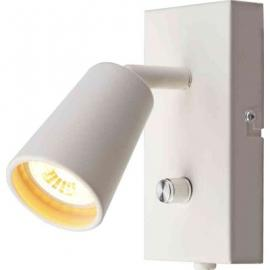 Leselys LED Unilamp Kony med USB hvit Dimtowarm