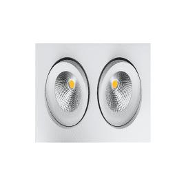 SG Junistar Gyro Square Matt hvit 2x6W LED 2700K 10 års garanti