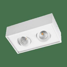 SG Gyro Cube 2x DimToWarm Matt hvit 2x6W LED 2000-2800K