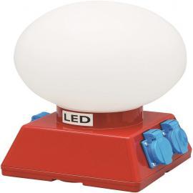 ARBEIDSBELYSNING KUPOLEN, LED, 230V, IP4 med stikkkontakt