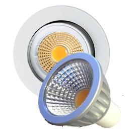 COB Led Downlight Rund IP24 230V/GU10 7W XXL COB Dimbar Hvit
