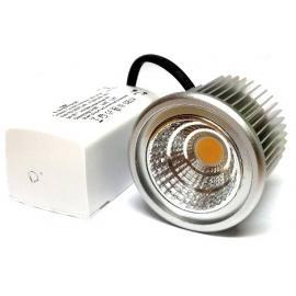 COB Led Downlight Lavtbyggende 44mm 8W super XXL m/driver IP23 - Dimbar