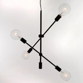BRONX Taklampe  4XE27 Svart