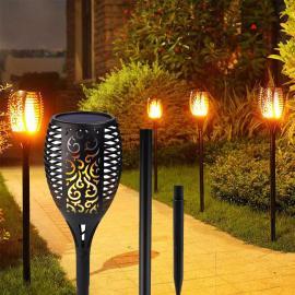 LED Flamme Fakkel m/ solcelle