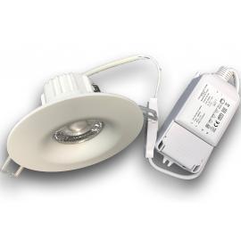 Lavtbyggende Downlight IP44 7,5W komplett med driver