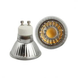 LED pære 230V/GU10 5,5W Klart glass DIMBAR