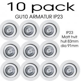 GU10 armatur 10 pack