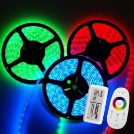 RGB LED stripe 5M sett med RF kontroller