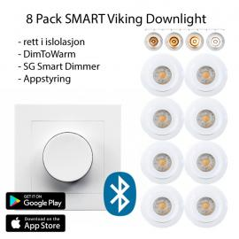8 pack Smart Viking Downlight pakke med App styring
