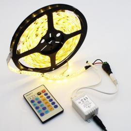 5M LED Strip 2700K, 7,2W/M Komplett pakke